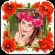 Flower Photo Frames Selfie by Velosys