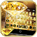 Gold Diamond Keyboard Theme by Joy&Art Fashion