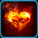 NeOn Burning Hearts Wallpapers by Best Appzone