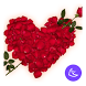 Red romantic love flower -APUS Launcher theme by CoolAppPub