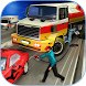Modern City Gas Station 3D Pickup Truck Refueling