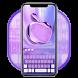 Purple Phone Apple Keyboard by Super Cool Keyboard Theme