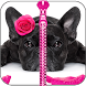 Cute Puppy Zipper Lock Screen by Zipper Lock Screens
