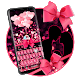 Pink Glitter Diamond Keyboard by Keyboard Theme Factory