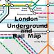 London Tube Rail Map by Richard Turner