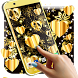 Golden Shine Live Wallpaper by 3D HD Moving Live Wallpapers Magic Touch Clocks