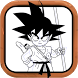 How to draw DBZ characters by Drawing Dev