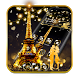 Romantic Golden Paris Theme by Best Cool Theme Dreamer