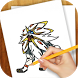 Learn to Draw Pokemon Sun Moon by VLK Games