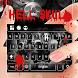 Hell Skull Keyboard Theme by Keyboard Dreamer
