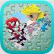 Superhero & Princess Puzzle by fujiro