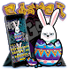 Easter Rabbit Graffiti Easter Eggs Color Keyboard by COOL THEME