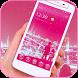 Pink wallpaper Bubble icons Theme