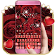 Red Rose Diamond Keyboard Theme by Joy&Art Fashion