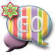 GO SMS THEME/GlitterRainbow by CPKDesigns