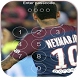Keypad Lock Screen for Neymar Jr 10 New PSG by download application free