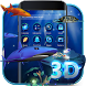 3D Ocean Aquarium Dynamic Fish Theme Skin by Bestheme Theme Studio HD wallpaper& icons