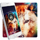 Colorful wild wolf theme