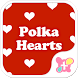 Cute Wallpaper Polka Hearts by +HOME by Ateam