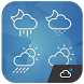 Simple minimal style iconset by Weather Widget Theme Dev Team