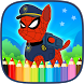 Spider Patrol Superhero Coloring Pages by SuperFunLab