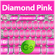 Diamond Pink Keyboard by BestThemes