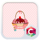 Pink Cake Cute Cartoon Theme by Best Android Themes Workshop
