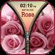 3D Rose Zipper Lock Screen by Thug Life Apps