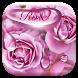 Rose waterdrops keyboard by Echo Keyboard Theme