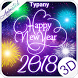 Animated New Year Fireworks Theme&Emoji Keyboard