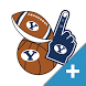 BYU Cougars PLUS Selfie Stickers by 2Thumbz, Inc