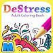 DeStress - Adult Coloring Book by Unit M Games