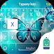 Luminous Butterfly Emoji Theme by Best Keyboard Theme Design