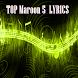 TOP Maroon 5 Songs LYRICS by Media Lyrics Song Music Apps Studio