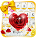 Golden Love diamond keyboard by theme master