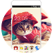 Cute Kitty Theme: Cat in Red Wallpaper HD by Best theme store