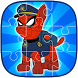 Spider Patrol Superhero Jigsaw Puzzle - Kids Game by SuperFunLab