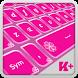 Keyboard Plus Pink Theme by thememasters