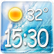 Sea Clock Weather Widget by Super Widgets