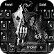 Dark Flame Devil skull gun Theme Keyboard by cool theme and wallpapers