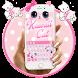 Cute Kawaii Kitty Pink Bow Keyboard Theme by Keyboard Theme Artist (Smart Keyboard Theme 2017)