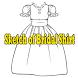 Sketch of Bridal Shirt
