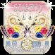 Gold Diamond Swan Keyboard theme
