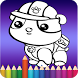 Coloring game for Paw Patrol by Devmarx