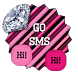 GO SMS THEME - Diamond Love 4 by SCSCreations