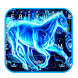 Blue Flaming Horse Keyboard Theme by Input theme