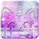 Silver Unicorn Cat Keyboard Theme by Fashion theme for Android-2018 keyboard