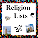 Religion Lists by Reference Geek Apps
