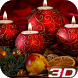 Christmas Candle 3D Wallpaper by Wiktor Bronowski
