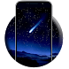 Nighttime flicker heavens sky by live wallpaper collection
